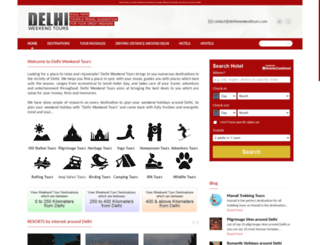 delhiweekendtours.com screenshot
