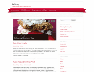 delicacydemo.wordpress.com screenshot