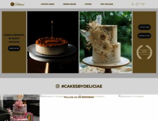 deliciaecakes.com screenshot