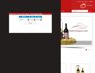 deliverliquor.com screenshot