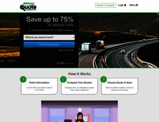 deliveryquotecompare.com screenshot
