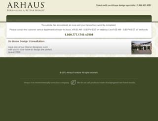 deliveryscheduling.arhaus.com screenshot