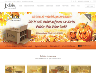 delizia-thewinery.de screenshot