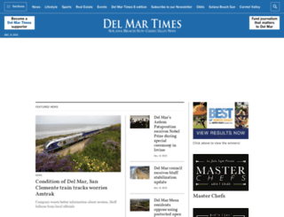 delmartimes.net screenshot