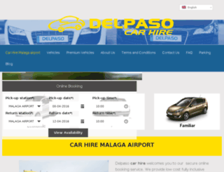 delpasocarhire.co.uk screenshot