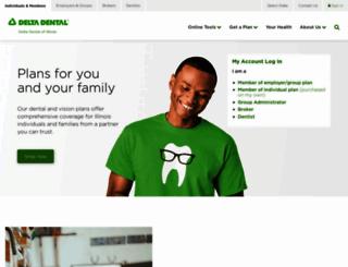 deltadentalil.com screenshot