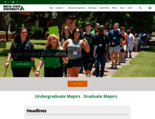 deltastate.edu screenshot
