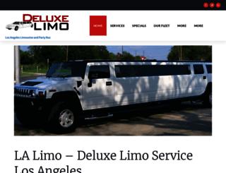 deluxelimousine.com screenshot
