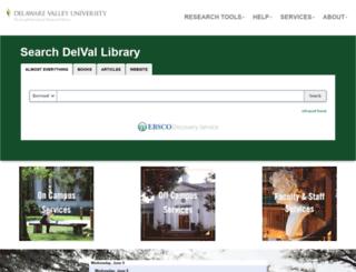 delval.libguides.com screenshot