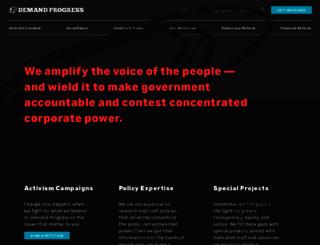 demandprogress.org screenshot