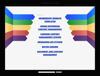 demo.ionizecms.com screenshot