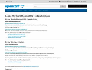 demo.opencart-extensions.co.uk screenshot
