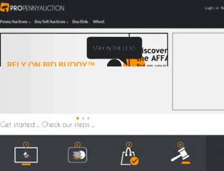 demo.propennyauction.com screenshot