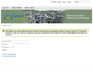 demo.smartcommunity.in screenshot
