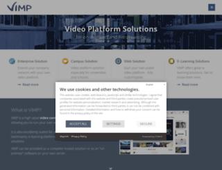 demo.vimp.com screenshot