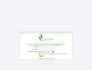 demo.web-calendar-pro.com screenshot