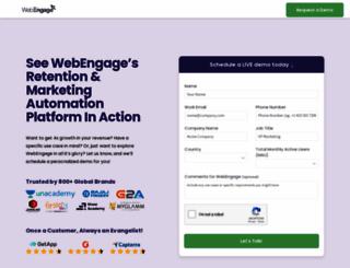 demo.webengage.com screenshot