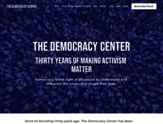 democracyctr.org screenshot