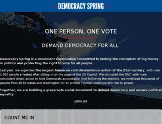 democracyspring.nationbuilder.com screenshot