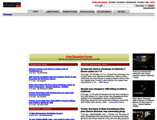 democraticunderground.com screenshot