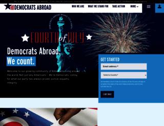 democratsabroad.nationbuilder.com screenshot