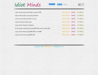 demos.idiotminds.com screenshot