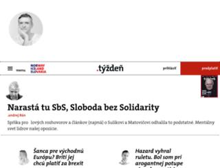 dennik.tyzden.sk screenshot