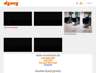 dennyhairdressing.com screenshot