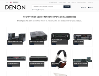 denon.encompass.com screenshot