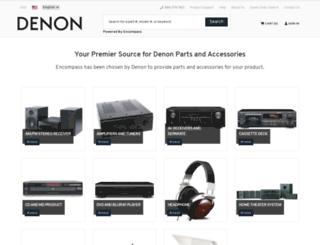 denon.encompass.com screenshot