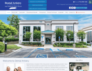 dentalartistry.com screenshot