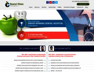 dentalclinicbangalore.com screenshot