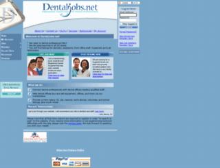 dentaljobs.net screenshot