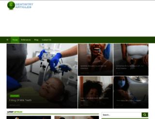 dentistry-articles.com screenshot