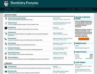 dentistry-forums.com screenshot