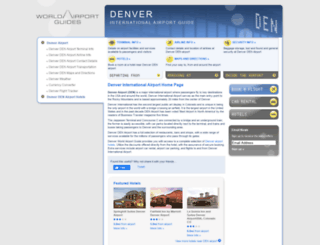denver-den.worldairportguides.com screenshot