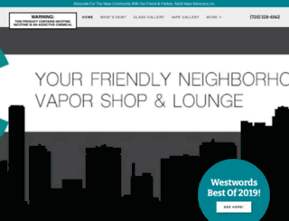 denver-vapor.com screenshot
