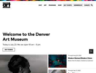 denverartmuseum.org screenshot
