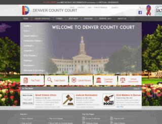 denvercountycourt.org screenshot