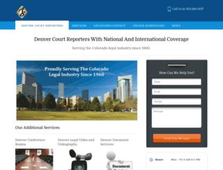 denvercourtreporters.com screenshot