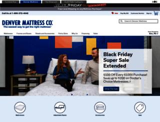 denvermattress.furniturerow.com screenshot