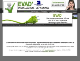 depannage-paris-evad.fr screenshot