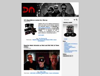 depechemode.fr screenshot
