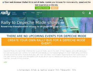 depechemode.rockandbus.com screenshot