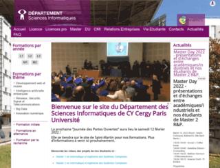 depinfo.u-cergy.fr screenshot