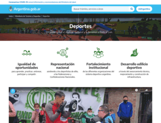 deportes.gov.ar screenshot