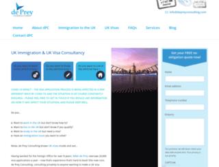 depreyconsulting.com screenshot