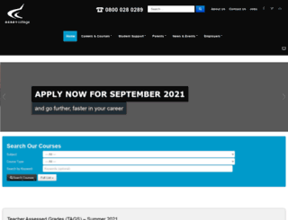 derby-college.ac.uk screenshot