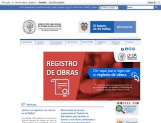 derechodeautor.gov.co screenshot