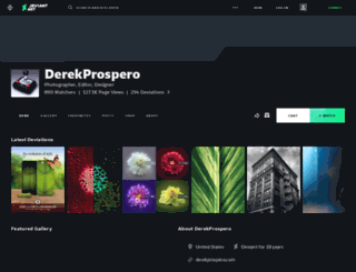 derekprospero.deviantart.com screenshot